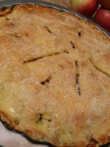 apple pie with pecorino crust