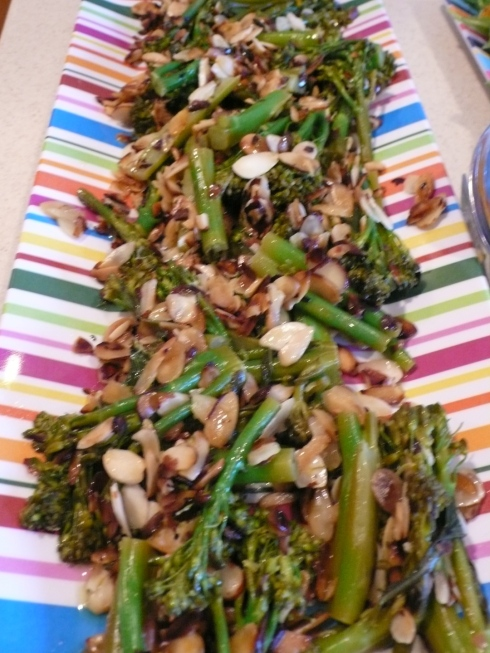 Broccolini with lemon and almonds