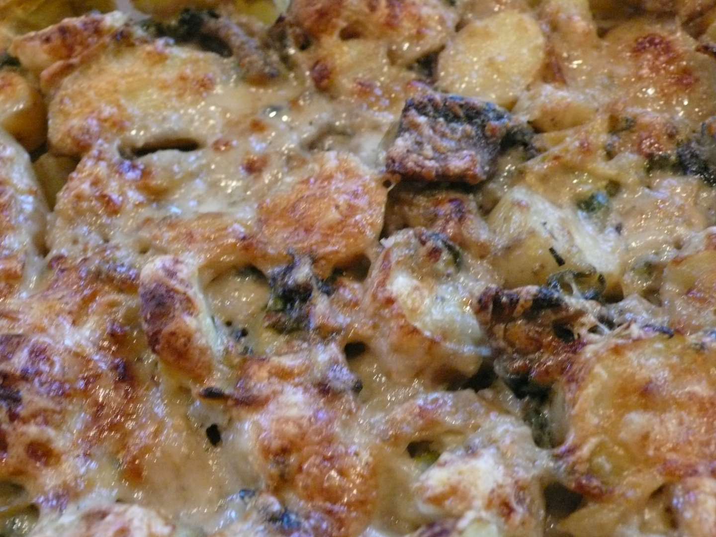 Mushroom And Potato Gratin With Thyme And Parmesan Recipe ...