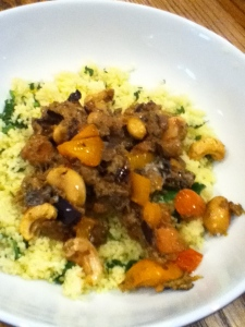with Spinach Couscous!